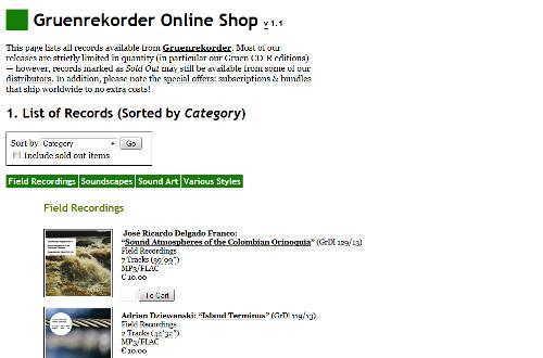 Gruenrekorder Online Shop