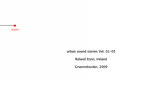 """urban sound stories"" Vol. 04 — Dublin/Ireland – Roland Etzin"
