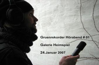 Gruenrekorder Hörabend #01